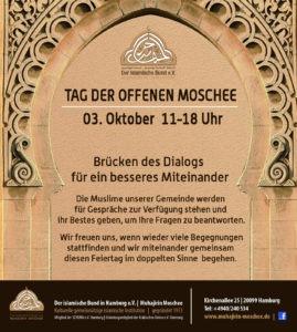 Read more about the article [:de]Tag der offenen Moschee in der Muhajirin Moschee Hamburg – Brücken des Dialogs für ein besseres Miteinander[:]
